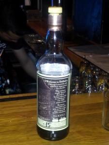 Back label - Chicago's rock & roll whisky emporium in a bottle.